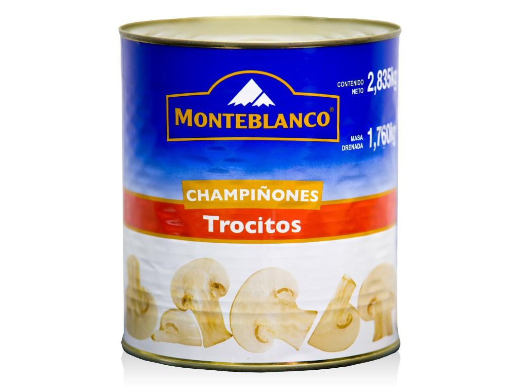CHAMPIÑON TROCITOS MONTEBLANCO 6/2.835 KG CT/6 PZ/2.835KG