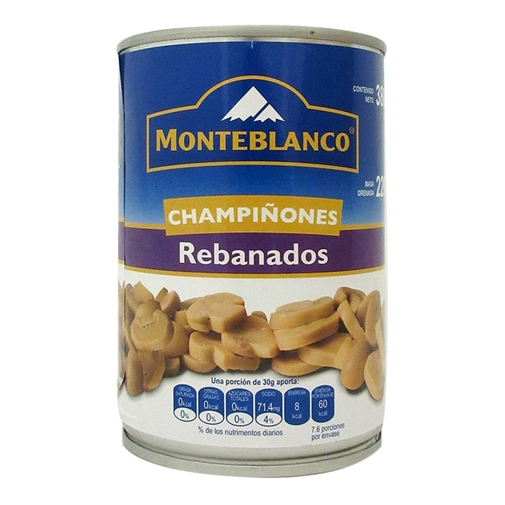 CHAMPIÑON REBANADO MONTEBLANCO 12/380 GR CT/12 PZ/380GR