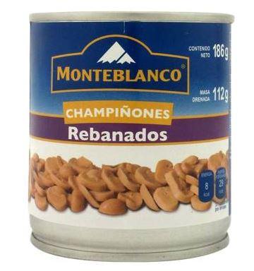 CHAMPIÑON REBANADO MONTEBLANCO 12/186 GR CT/12 PZ/186GR