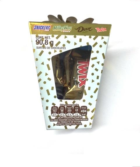 CHOCOLATE SMALL BOX MIX 12/90.8 GR CJ/12 PZ/90.8GR
