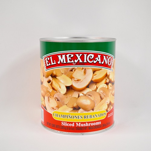 CHAMPIÑON REBANADO EL MEXICANO 6/2.835 KG CJ/6 PZ/2.835KG